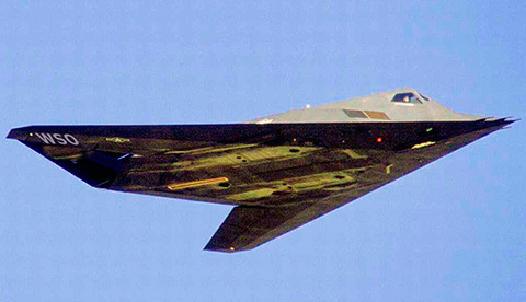 stealth jet featuring W S O markings
